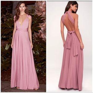 Lulu's • Mauve Tricks of the Trade Maxi Dress